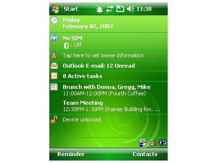 Windows Mobile 6.1.